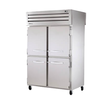 superior-equipment-supply - True Food Service Equipment - True Stainless Steel Four Front & Rear Half Door Two Section Pass-thru Heated Cabinet