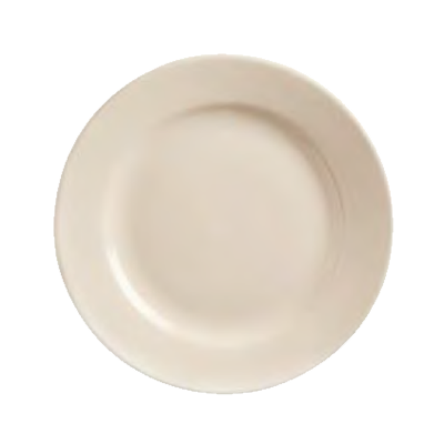 "superior-equipment-supply - World Tableware Inc - World Tableware Princess Plate Rolled Edge Cream White Stoneware 9"" Diameter - 24/Case"