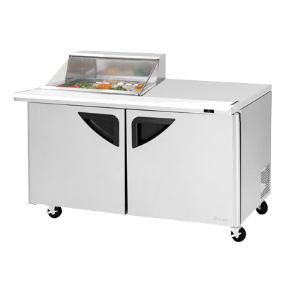 "superior-equipment-supply - Turbo Air - Turbo Air 60.38"" Wide Stainless Steel Two Section Sandwich/Salad Mega Top Unit"