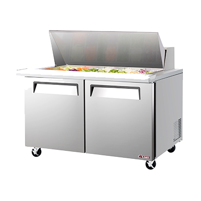 "superior-equipment-supply - Turbo Air - Turbo Air 60"" Wide Aluminium Two-Section Sandwich/Salad Mega Top Unit"