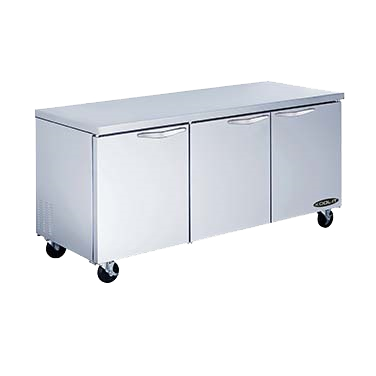 "superior-equipment-supply - MVP Group - Kool-It Stainless Steel Three Section Undercounter Refrigerator 72""W"