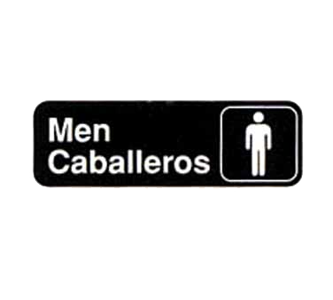 "Tablecraft Cash & Carry Sign ""Men/Caballeros"""