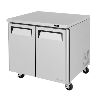 "superior-equipment-supply - Turbo Air - Turbo Air 36.25"" Wide Stainless Steel Two-Section Undercounter Refrigerator"