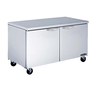 "superior-equipment-supply - MVP Group - Kool-It Stainless Steel Two Section Undercounter Refrigerator 60""W"