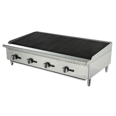 "superior-equipment-supply - Migali - Migali 48""W Stainless Steel Natural Gas Countertop Charbroiler"