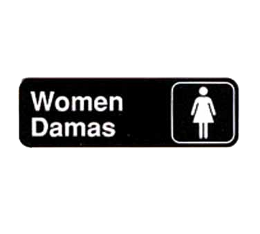 "Tablecraft Cash & Carry Sign ""Women/Damas"""