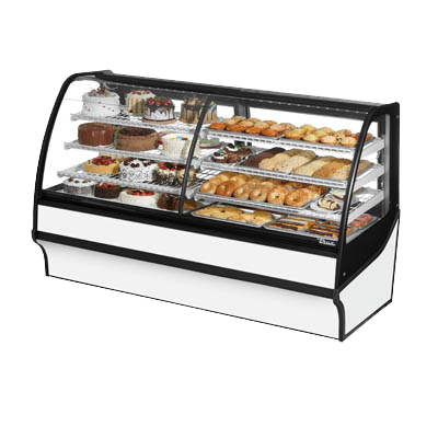"superior-equipment-supply - True Food Service Equipment - True Stainless Steel 77""W Dual Zone Merchandiser With Self-Contained Refrigeration"