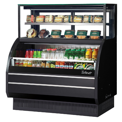 Turbo Air Open Merchandiser Combination Case With Refrigerated Top Shelf