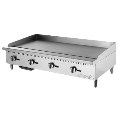 "superior-equipment-supply - Migali - Migali 48""W Stainless Steel Four Burner Natural Gas Countertop Griddle"