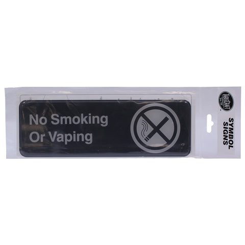"Tablecraft Cash & Carry Sign ""No Smoking or Vaping"""
