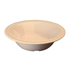 "Soup/Cereal Bowl 12 oz. White Melamine 6-3/8"" Diameter - One Dozen"