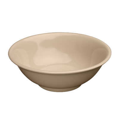 "Bowl 41 oz. Tan Melamine 8"" Diameter - One Dozen"