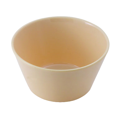 "Bouillon Cup 8 oz. Tan Melamine 3-7/8"" Diameter - One Dozen"