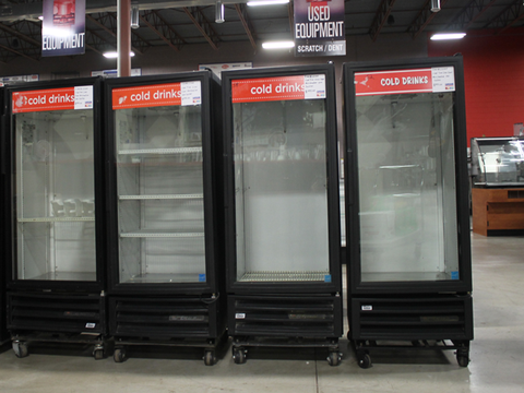 Used True One Section One Glass Door Refrigerated Merchandiser