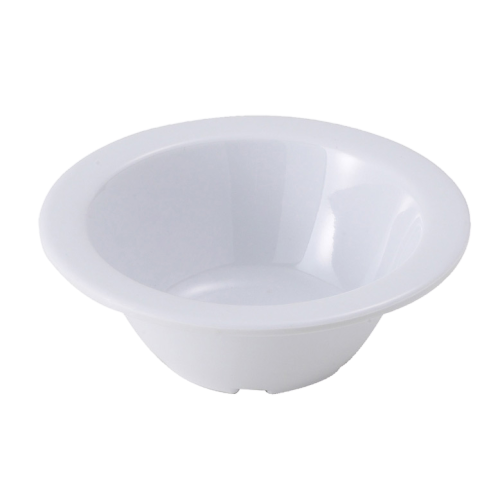 "Fruit Bowl 5 oz. White Melamine 4-3/4"" Diameter - One Dozen"