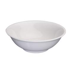 "Bowl 52 oz. White Melamine 8-1/2"" Diameter - One Dozen"