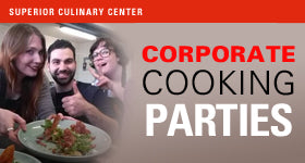 superior-equipment-supply - Superior Culinary Center - An Elegant Dinner Party - Corporate Theme Parties.
