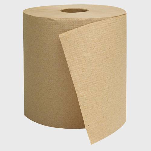 "Natural Hardwound Paper Towel Roll 8""W x 800""D A1286 - 6/Case"