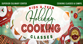 superior-equipment-supply - Superior Culinary Center - Holiday Favorite Desserts - Kids & Teens Holiday Cooking Classes