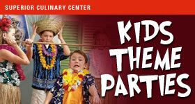 superior-equipment-supply - Superior Culinary Center - Super Hero – Kids Themed Birthday Party Package