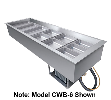"Hatco Drop-In Refrigerated Well Top Mount Insulated 58""W Aluminized Steel Housing"