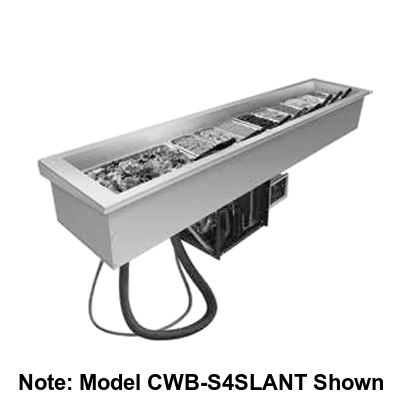 "Hatco Drop-In Refrigerated Slim Well Top Mount Insulated 90.25""W Aluminized Steel Housing"