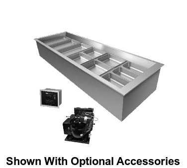 "Hatco Drop-In Refrigerated Well Top Mount Insulated 84""W Aluminized Steel Housing"