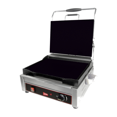"Grindmaster Cecilware Single Sandwich/Panini Grill Smooth Cast Iron 9-5""W x 9""D"