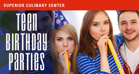 superior-equipment-supply - Superior Culinary Center - Hipster Foodie - Teens Standard Birthday Party Package