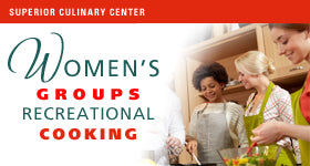 superior-equipment-supply - Superior Culinary Center - Elegant Appetizers - Women's Groups Recreational Cooking Events