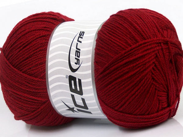 250g Grande Lana Burgundy Ice Yarns 70% Superwash Virgin Wool Strickwolle Ice Yarns - Hungariana Garn und Strickwolle Online Shop