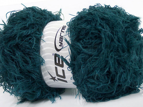 Wollpaket Eyelash Wool Teal Ice Yarns 200g