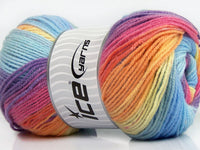 100g Magic Light Yellow Purple Pink Orange Blue Shades Ice Yarns Strickwolle Ice Yarns - Hungariana Garn und Strickwolle Online Shop