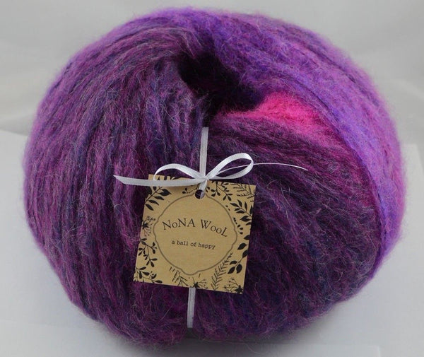 200g Farbverlaufsgarn NoNA WooL Mohair Giant Soft Wolle French Plum Strickwolle Ice Yarns - Hungariana Garn und Strickwolle Online Shop