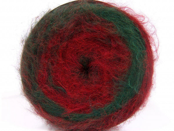 150g Cakes Wool Fluffy Aran Red Green Burgundy Ice Yarns Strickwolle - Fest Keks Lebkuchen & Keks für jede Feier