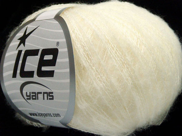 30g Kid Mohair Flamme Off White Ice Yarns Strickwolle Ice Yarns - Hungariana Garn und Strickwolle Online Shop