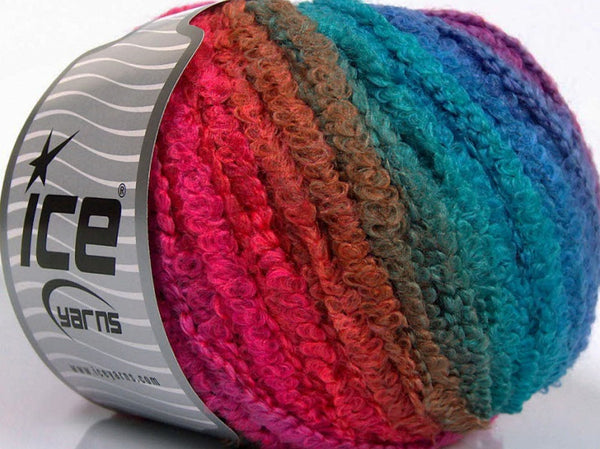 100g Farbverlaufsgarn Self-Striping MISC Turquoise Shades Pink Shades Strickwolle Ice Yarns - Hungariana Garn und Strickwolle Online Shop