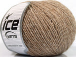 50g Alpaca Superfine Sport Light Brown Melange Ice Yarns Strickwolle Ice Yarns - Hungariana Garn und Strickwolle Online Shop