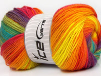 100g Magic Light Rainbow Ice Yarns Strickwolle - Fest Keks Lebkuchen & Keks für jede Feier