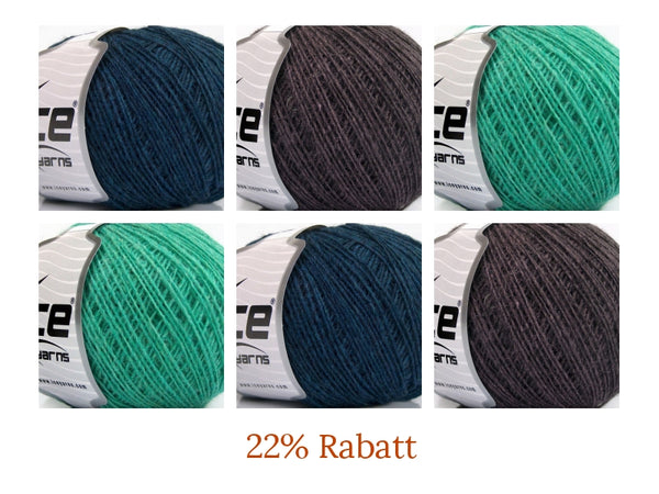 22% Rabatt 300g Wollpaket Ice Yarns Wool Cord Sport Dark Turqoise Maroon Mint Green Strickwolle Ice Yarns - Hungariana Garn und Strickwolle Online Shop
