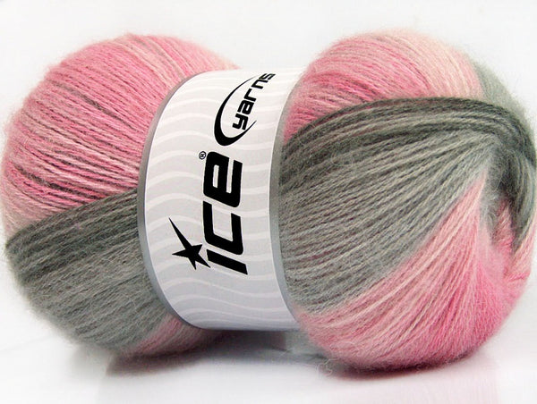 100g Angora Batik Ice Yarns Turquoise Grey Pink Shades Strickwolle Ice Yarns - Hungariana Garn und Strickwolle Online Shop