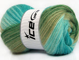 100g Angora Batik Ice Yarns Turquoise Green Shades Strickwolle Ice Yarns - Hungariana Garn und Strickwolle Online Shop