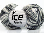 50g Sale Summer White Grey Shades Ice Yarns Strickwolle - Fest Keks Lebkuchen & Keks für jede Feier