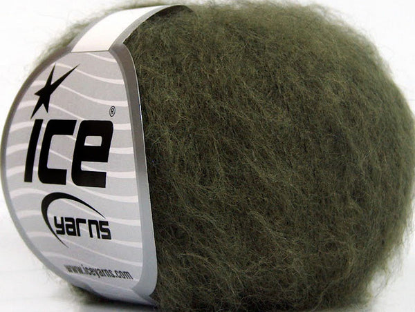 30g Kid Mohair Fine Dark Green Ice yarns Strickwolle Ice Yarns - Hungariana Garn und Strickwolle Online Shop