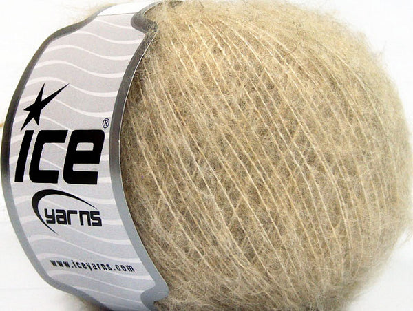 30g Kid Mohair Fine Light Camel Ice yarns Strickwolle Ice Yarns - Hungariana Garn und Strickwolle Online Shop