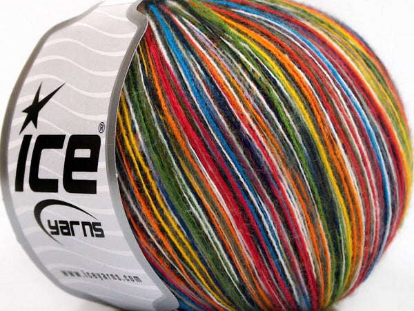 50g Sale Self-Striping Rainbow Ice Yarns