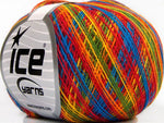 50g Self-Striping Rainbow Ice Yarns