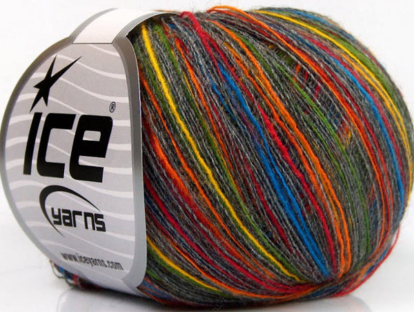 30g Sale Self-Striping Wool Blend Rainbow Ice Yarns Strickwolle - Fest Keks Lebkuchen & Keks für jede Feier