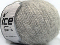50g Alpaca Comfort Fine Light Grey Ice Yarns Hell Grau Strickwolle Ice Yarns - Hungariana Garn und Strickwolle Online Shop