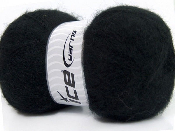 100g Angora Classic Black Ice Yarns Schwarz Strickwolle Ice Yarns - Hungariana Garn und Strickwolle Online Shop